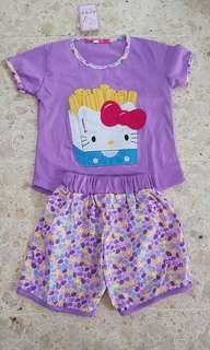 Baju rumah baju tidur kaos hellokitty
