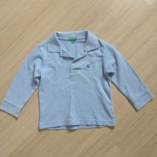 United colours of benetton boy long sleeve polo shirt
