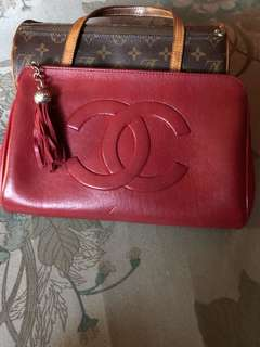Chanel Red Vintage clutch