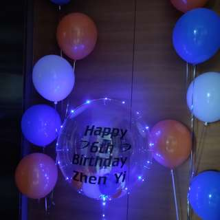 Customised led balloons decoration for birthday surprise