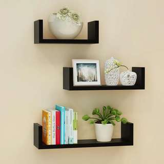 Wall Shelves Black Color