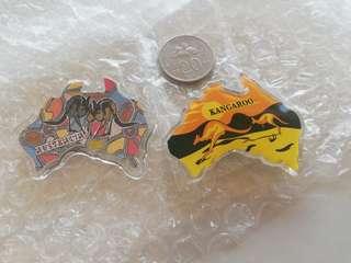 2pcs Australia acrylic fridge magnets rm8