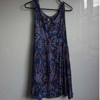 Cotton On blue paisley patterned sundress (size S)
