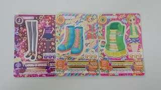 轉角♥全新正版偶像學園遊戲卡三張一起賣