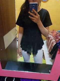 Shirt lucu warna hitam