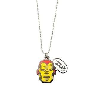 Japan Disneystore Disney Store Marvel Iron Man 01 Comic Necklace