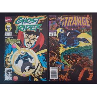 Ghost Rider #12 & DR Strange #28 (1991 2nd Series) Complete Set of 2- Guest-starring Doctor Strange!