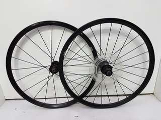 """Tern Verge D9 Stock Wheel Set 20"""" 451 74/130mm for Folding Bikes"""