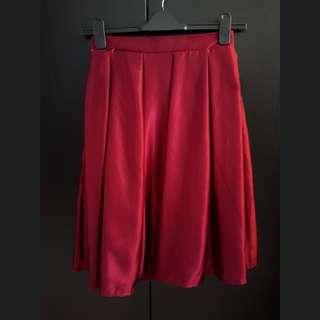 Red Wine Midi Skirt
