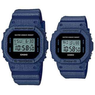CASIO ORIGINAL DW-5600DE-2 BGD-560DE-2 G-SHOCK & Baby-G denim'd color resin SC