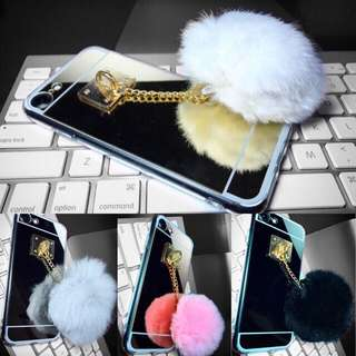 Reflective Mirror with Fur Ball Case
