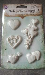 Metal Hearts for scrapbooking