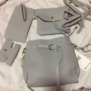 •brandnew• 4 in 1 Cream Sling Bag