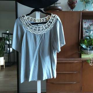 Country Road Silk Lace Blouse