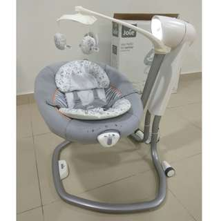 Baby swing like new Joie auto swing and swivel electronic