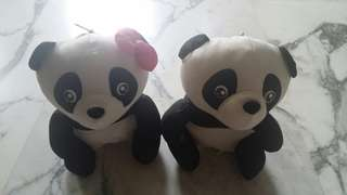 Jia Jia soft toy with shopping bag