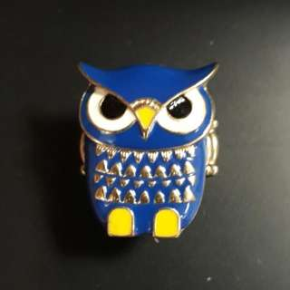 Metallic Owl Ring (Adjustable)