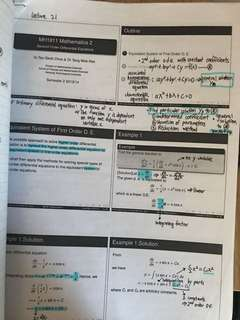MH1811 annotated notes and quiz