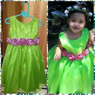Customized flower girl gown 1-2y.old