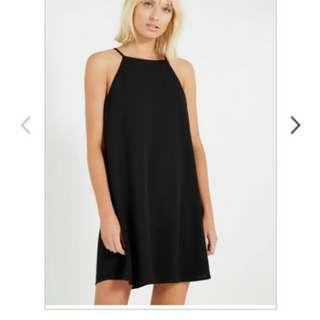 BN Cotton On Black Halter Dress Chiffon