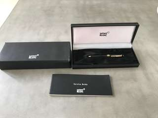 Authentic Montblanc Gold Ballpoint Pen