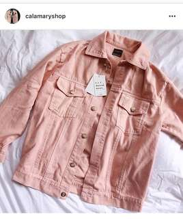 Oversized Zara Pink Jacket