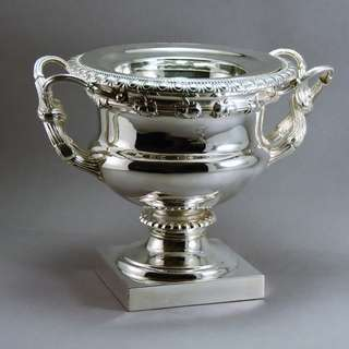 Monumental Cast & Silver Plated Magnum Champagne/Wine Cooler England, 1820