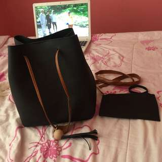 •brandnew• 2 in 1 Black Bag
