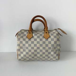 Authentic Louis Vuitton Speedy 25 Damier Azur