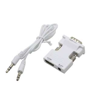 HDMI To VGA Converter With Audio(White) RM40 dimension 3.34 x 0.8cm x 4.75cm
