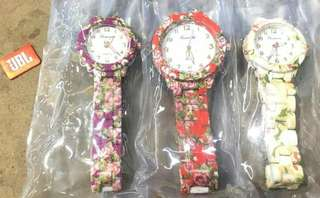 GENEVA Watch  With various flowers design High Quality MADE  Water Resistant   #200 each