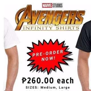 Marvel infinity war shirts!!!