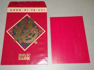 Ang Pow Packet - Vintage BHL Bank with cardboard for one ringgit coins