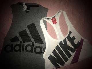 Nike & Adidas Workout Tops