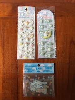 Sanrio Cinnamoroll stickers + 八達通卡套