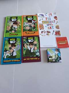 Ben 10 Alien Force writting pad and story book