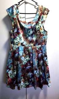 Silky Floral Dress