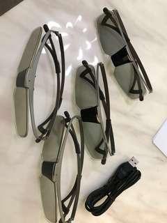 Sony 3D電視 3D眼鏡 4對各$100