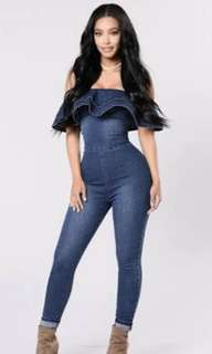 Fashion Nova Denim Jumpsuit