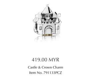 🇭🇲Pandora Castle & Crown Charm