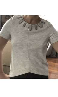 Grey Country Road top with stone detail XXS