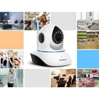 starcam家用cctv 閉路電視紅外夜視無線網絡攝像頭 手機遠程監控一體機C7838
