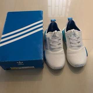 Adidas NMD_R1 white/blue glow