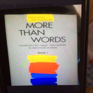 More Than Words- Vocabulary For Upper Intermediate To Advanced Students