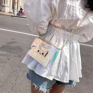 Rm18 Hari Raya Sale Holographic Sling Bag #20under