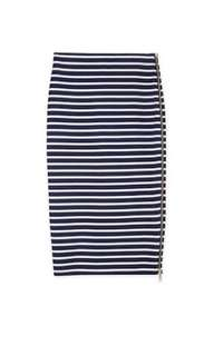 Country Road stripe skirt with gorgeous gold zoo detail XXS