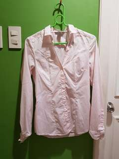 H&M Light Pink Polo Long Sleeves