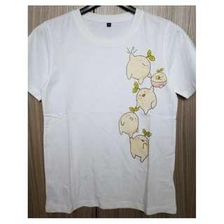 純棉印花短袖T恤~全新商品