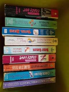 Assorted romance books