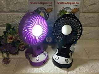 Portable rechargeable fan with light/powerbank